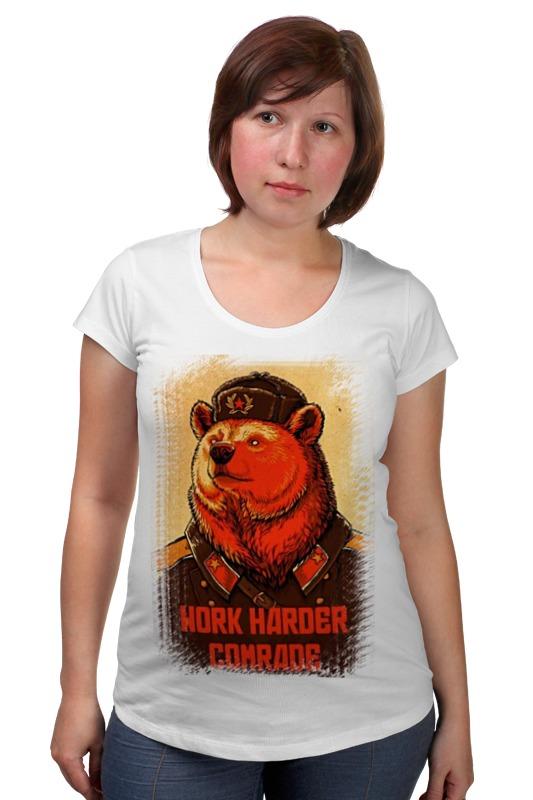 Футболка для беременных Printio Comrade bear футболка для беременных printio россия украина
