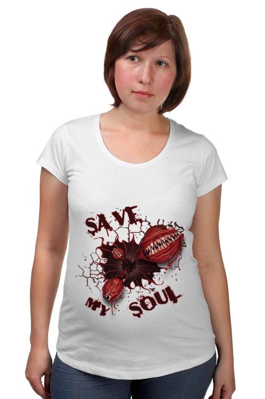 Футболка для беременных Printio Монстры. спасите мою душу. скачать песны душу дяволу продам