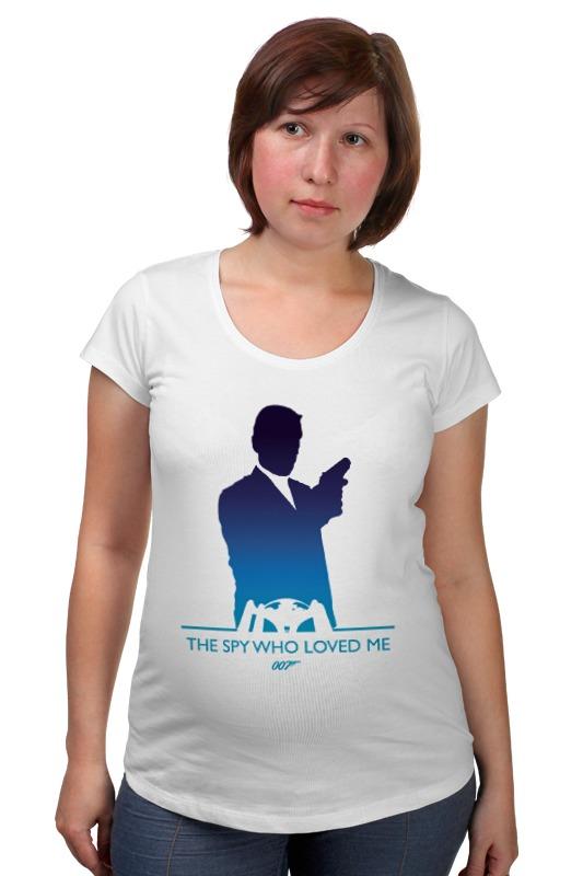 Футболка для беременных Printio 007: шпион, который меня любил футболка для беременных printio property of a lady 007