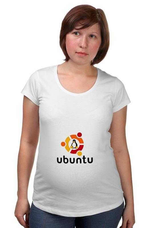 Футболка для беременных Printio Ubuntu футболка для беременных printio жарю лучше всех