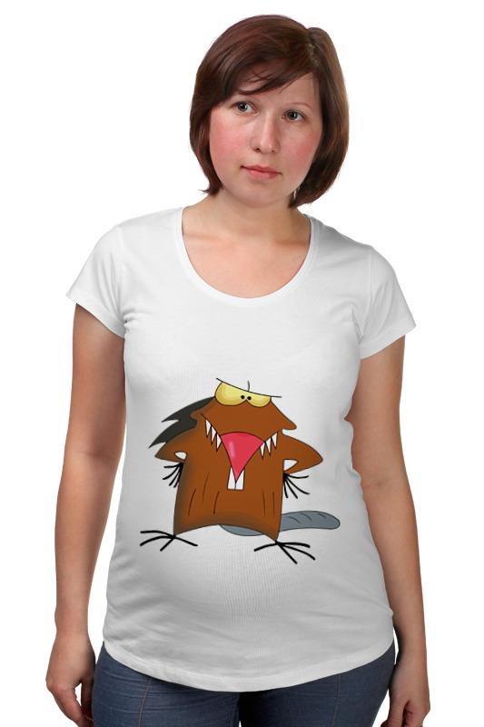 Футболка для беременных Printio The angry beavers