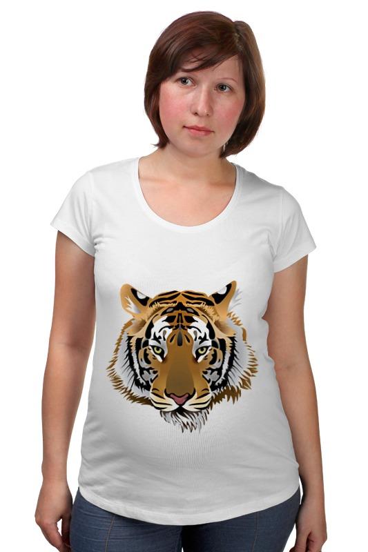 Футболка для беременных Printio Взгляд тигра письмо для тигра