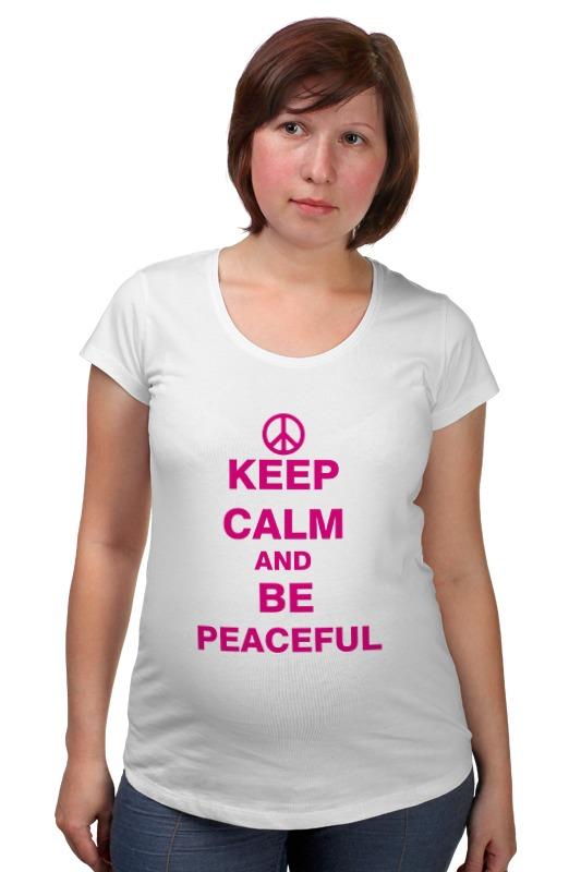 Футболка для беременных Printio Мир (peace)