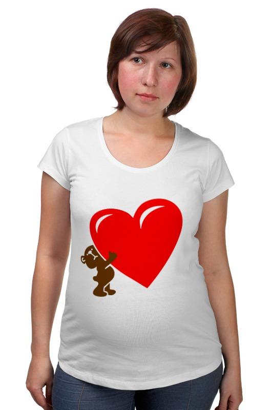 Футболка для беременных Printio Bear heart футболка для беременных printio россия украина