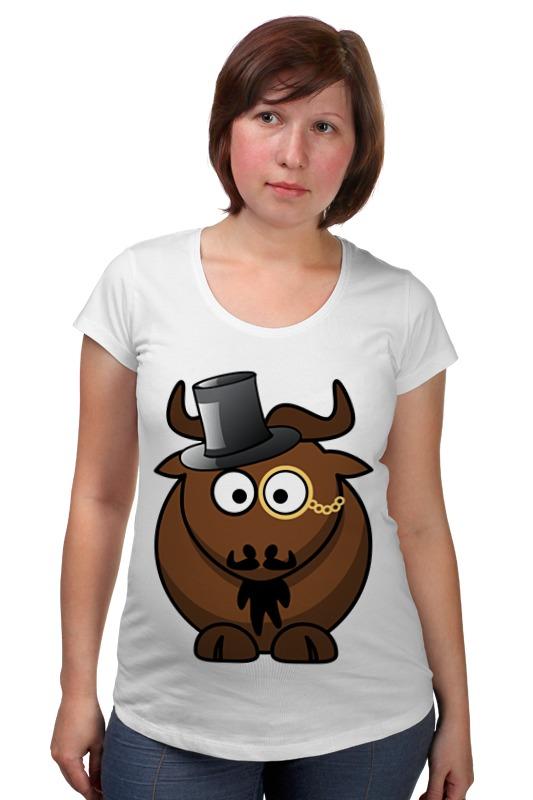 Футболка для беременных Printio Интилегентный  бык футболка для беременных printio бешенный бык raging bull