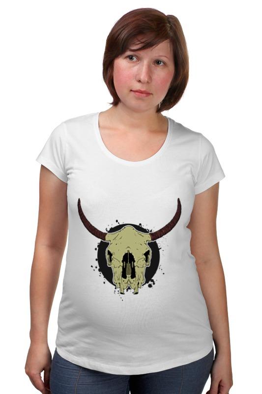 Футболка для беременных Printio Skull bull футболка для беременных printio бешенный бык raging bull