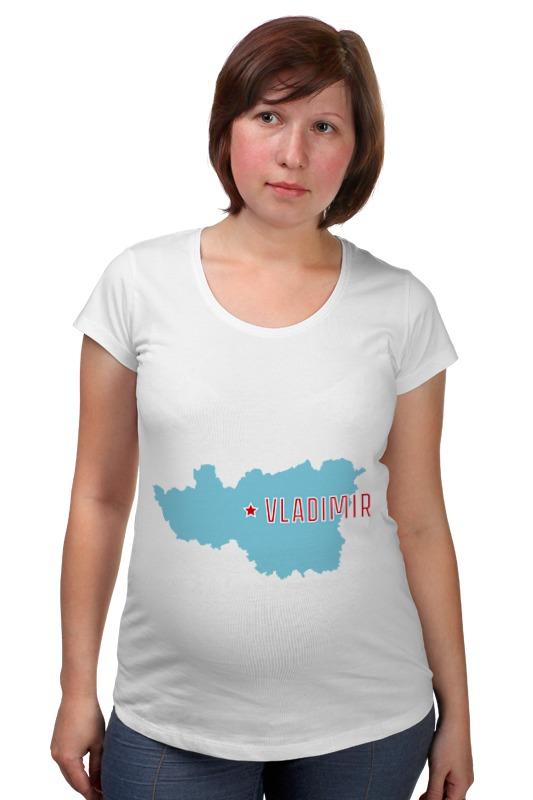Футболка для беременных Printio Владимирская область. владимир