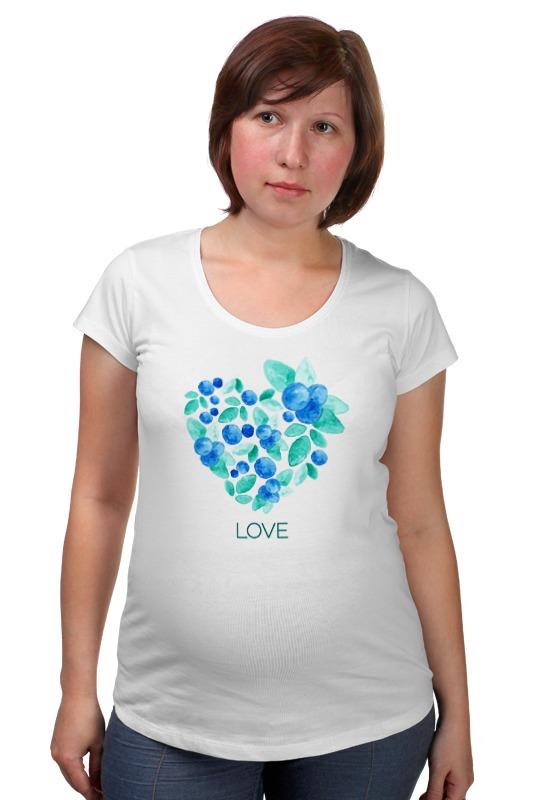 Футболка для беременных Printio Акварель сердце из голубики лонгслив printio акварель сердце из голубики