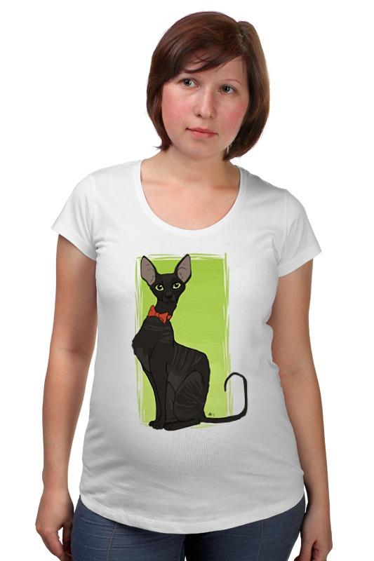 Футболка для беременных Printio Чёрная кошка футболка для беременных printio россия украина