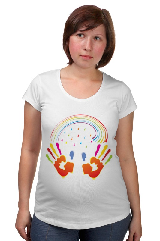 Футболка для беременных Printio Миру мир! футболка для беременных printio война никогда не меняется