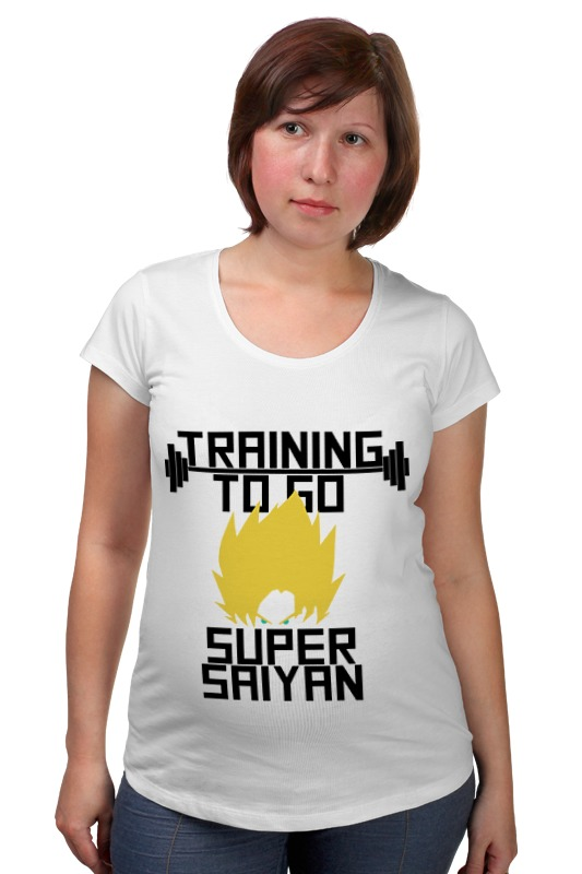 Футболка для беременных Printio Training to go super saiyan футболка wearcraft premium slim fit printio training to go super saiyan