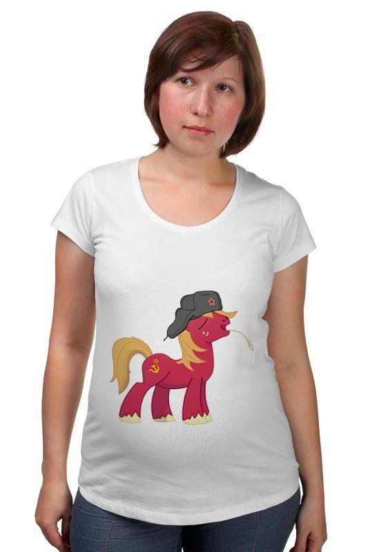 Футболка для беременных Printio My little pony: русский понь футболка для беременных printio my little pony obey