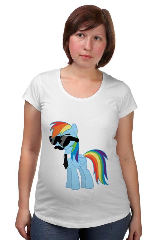 Футболка для беременных Printio My little pony - rainbow dash (радуга) хасбро hаsbro b3604 b8074 my little pony игровой мейнхеттен rainbow dash