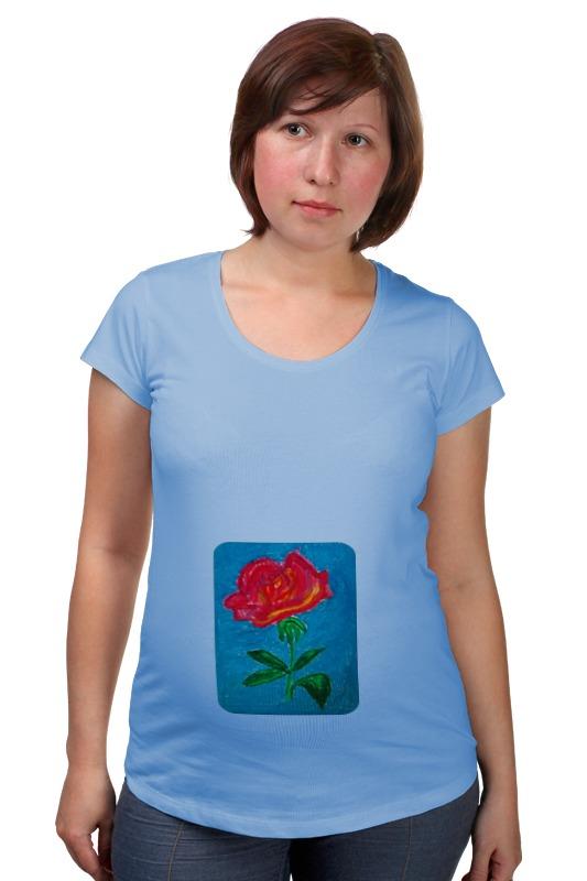 Футболка для беременных Printio Алая роза комплект семейного белья василиса нежная роза 4172 1 70x70 c рб