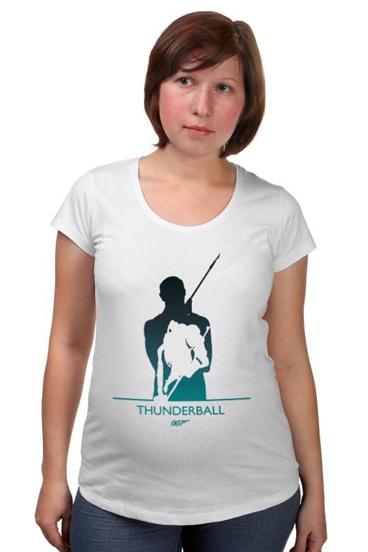 Футболка для беременных Printio 007: шаровая молния. футболка для беременных printio property of a lady 007