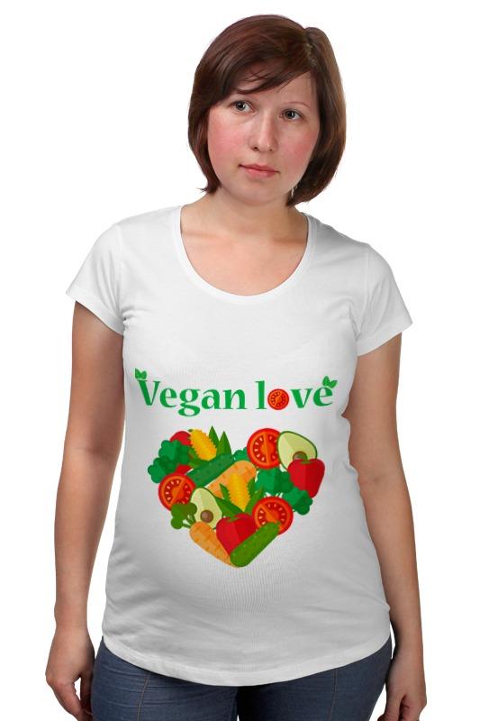 Футболка для беременных Printio Vegan love товары для беременных