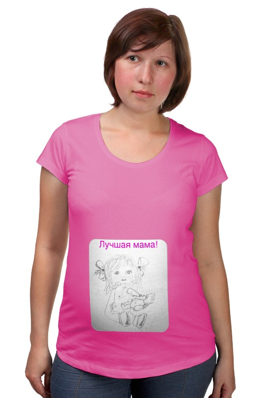 Футболка для беременных Printio Дочки-матери платья для мамы и дочки в спб