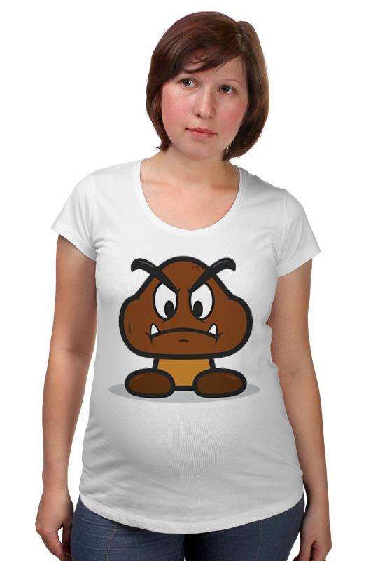 Футболка для беременных Printio Гумба (марио) футболка для беременных printio жарю лучше всех