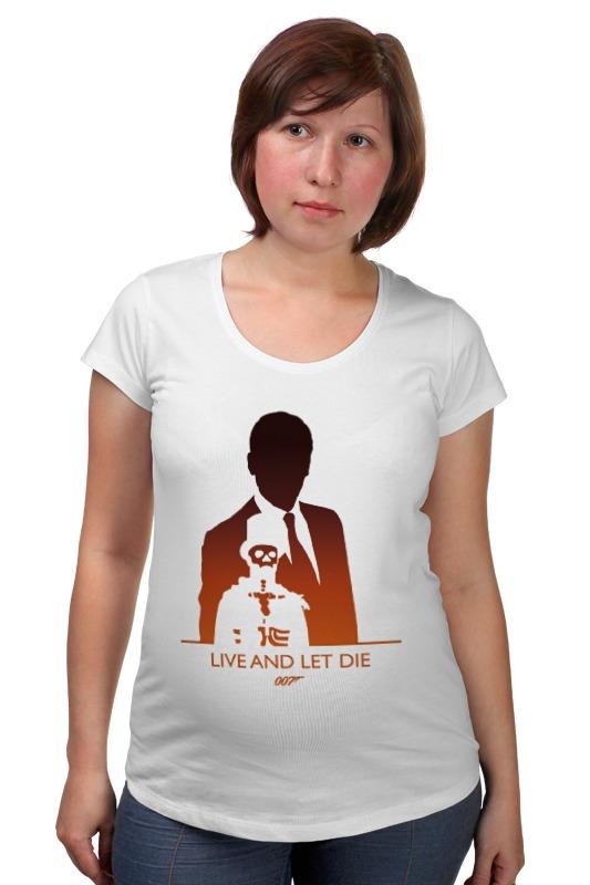 Футболка для беременных Printio 007: живи и дай умереть футболка для беременных printio property of a lady 007