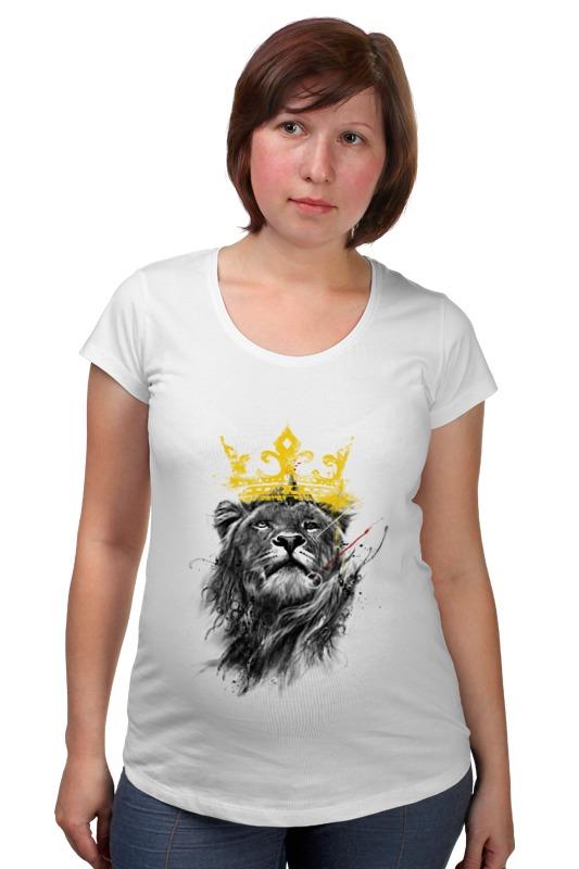 Футболка для беременных Printio Король лев обложка для паспорта printio король лев