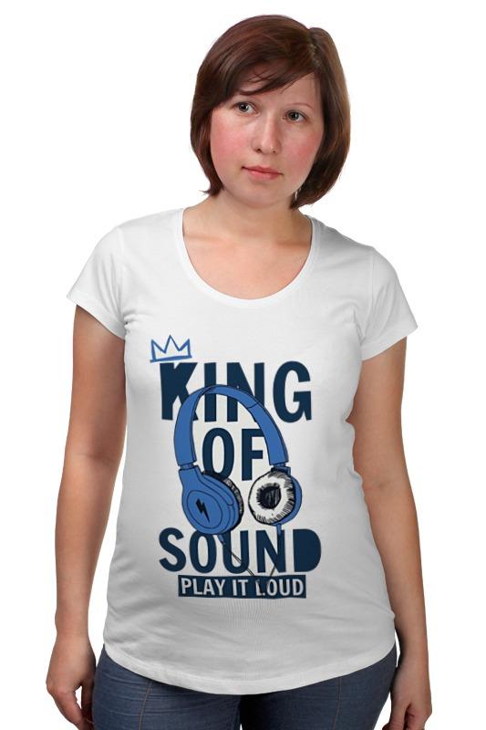 Футболка для беременных Printio King of sound футболка для беременных printio elements of harmony
