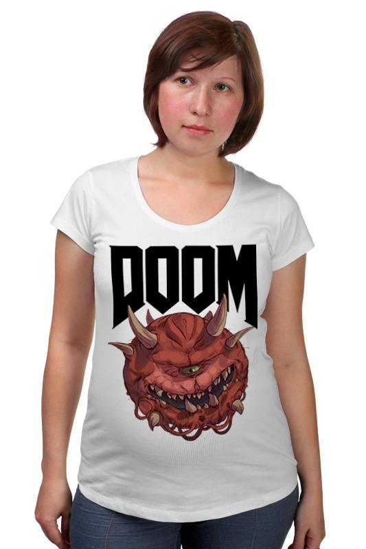 Футболка для беременных Printio Doom game товары для беременных