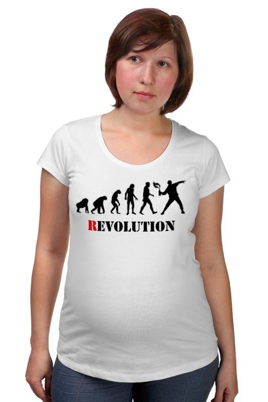 Футболка для беременных Printio Evolution - revolution