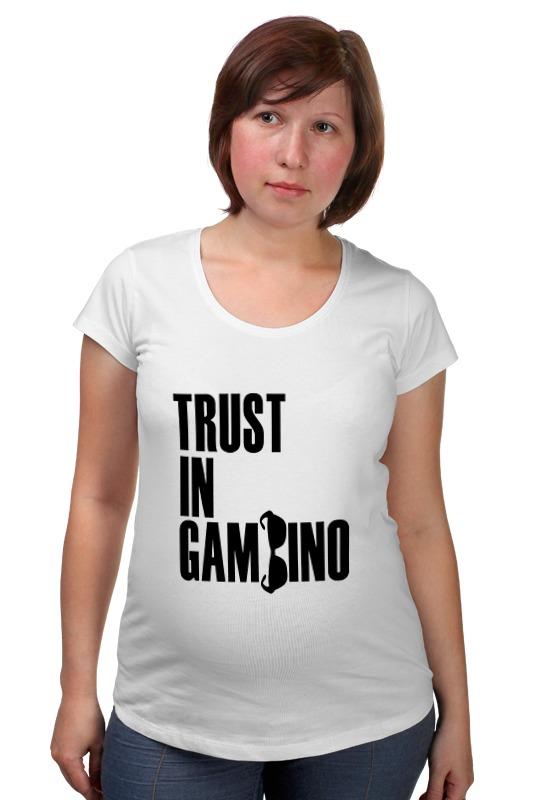 Футболка для беременных Printio Trust in gambino developing trust in ride sharing system