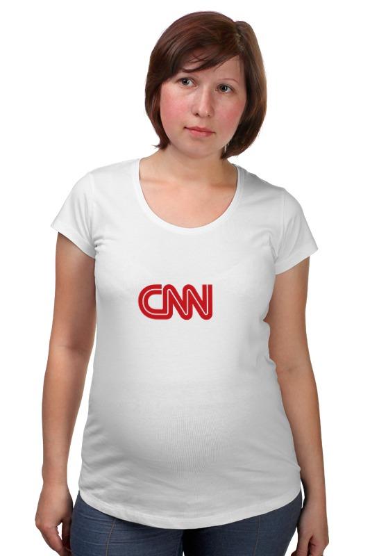 Футболка для беременных Printio Cnn (cable news network)