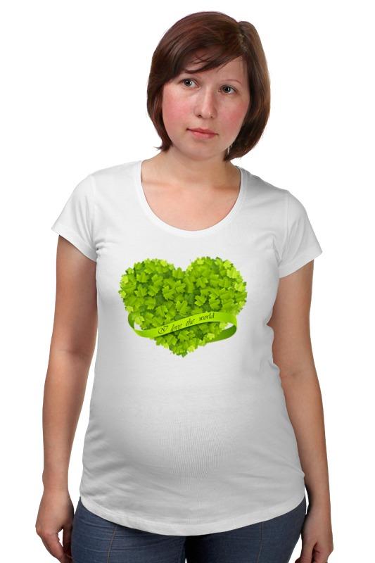 Футболка для беременных Printio Я люблю мир футболка для беременных printio я покажу тебе мир