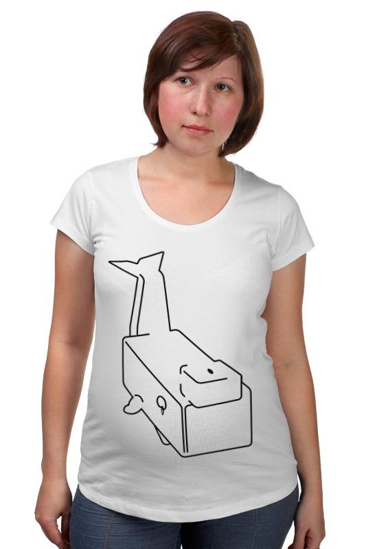 Футболка для беременных Printio Моби дик (белый кит) футболка для беременных printio кит ричардс