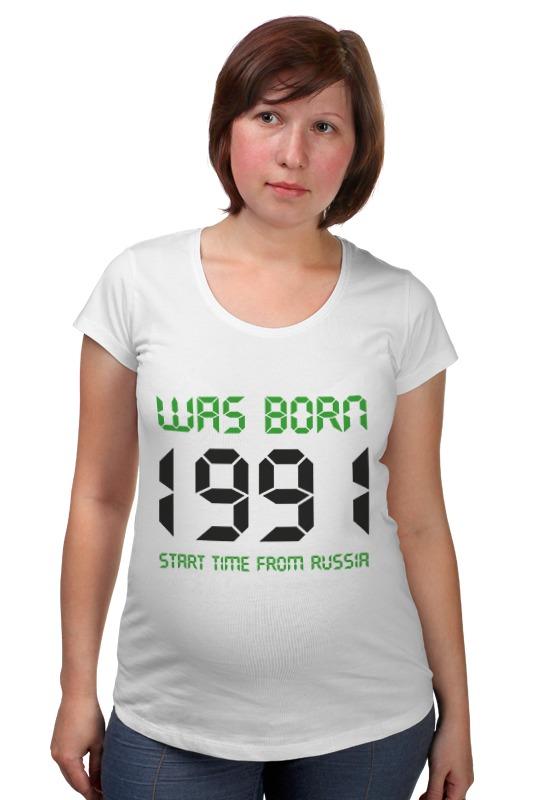 купить Футболка для беременных Printio 1991 год рождения дешево