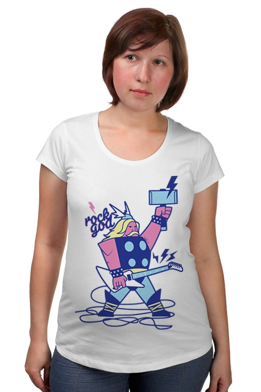 Футболка для беременных Printio Бог рока (rock god) футболка для беременных printio world school of rock