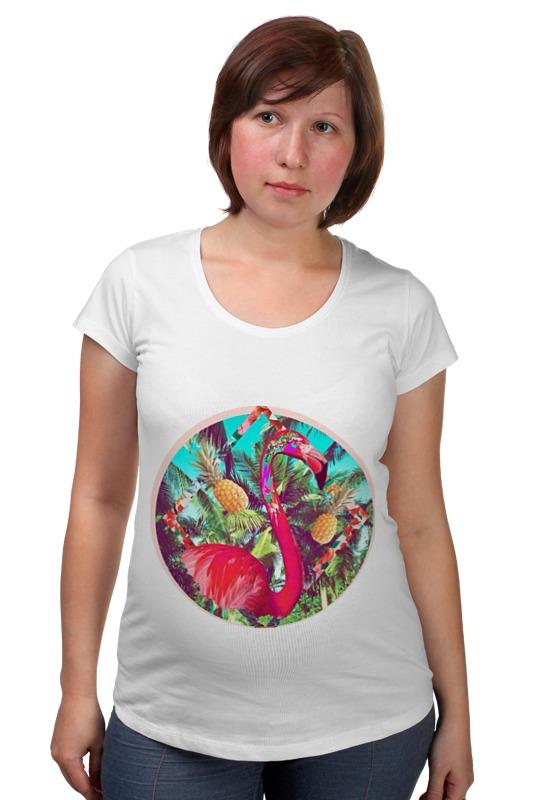 Футболка для беременных Printio Розовый фламинго футболка для беременных printio elements of harmony