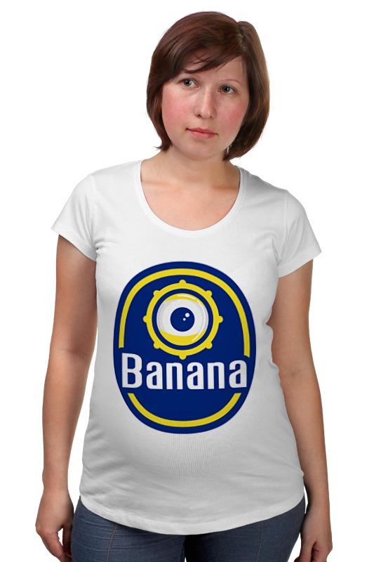 Футболка для беременных Printio Миньон (банана) футболка для беременных printio миньон  банана
