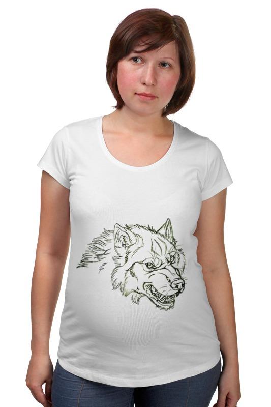 Футболка для беременных Printio Angry wolf толстовка