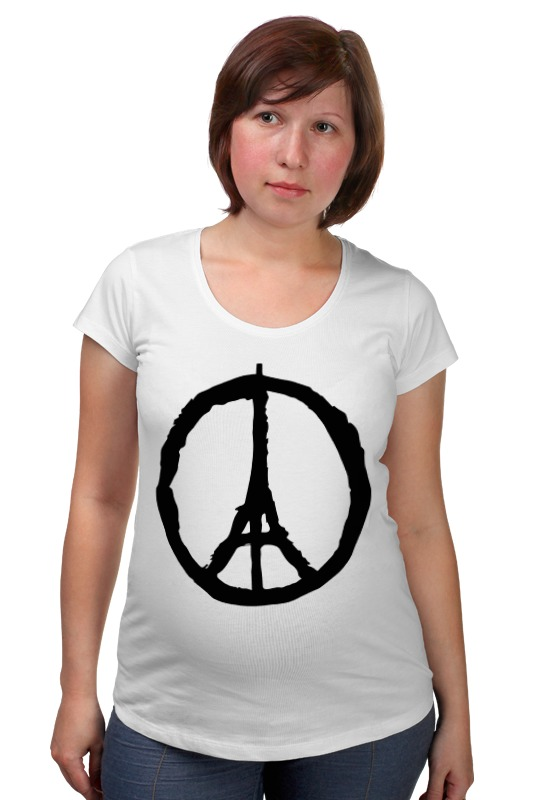 Футболка для беременных Printio Мир парижу (peace for paris)