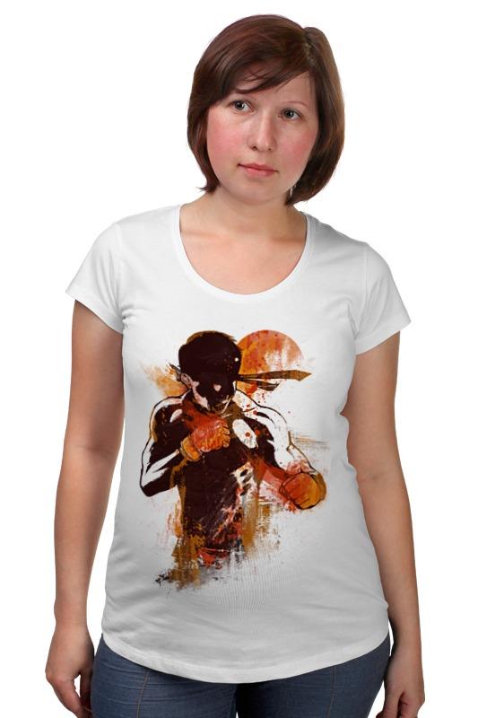 Футболка для беременных Printio Абстрактный боец футболка для беременных printio россия украина