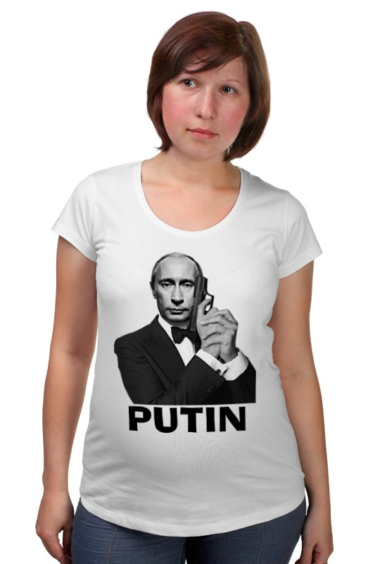 Футболка для беременных Printio Путин футболка для беременных printio авто уаз