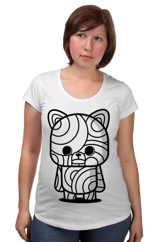 Футболка для беременных Printio Медведь мумия футболка для беременных printio elements of harmony
