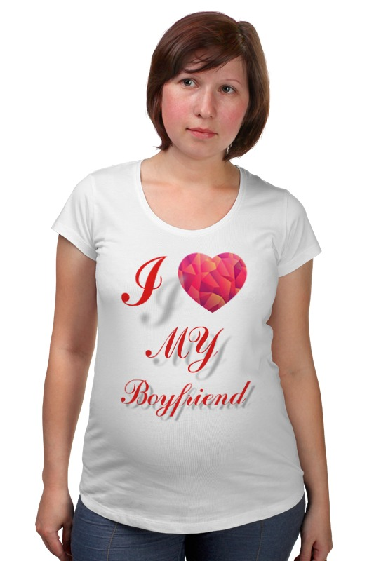 Футболка для беременных Printio I love my boyfriend сумка printio i love my boyfriend