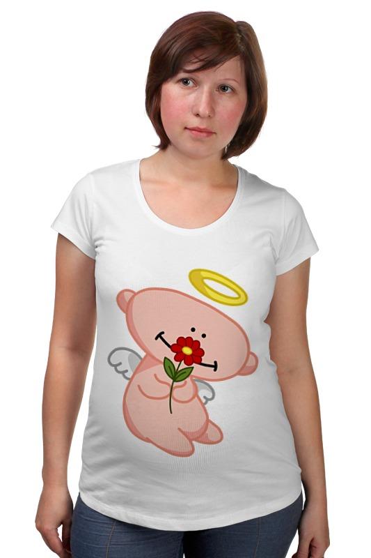 Футболка для беременных Printio Ангел с цветком анатолий ярмолюк поспорил ангел с демоном