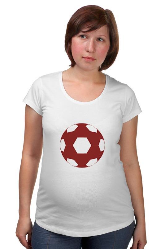 Футболка для беременных Printio Красный мяч мяч сувенирный 2k sport patriot цвет белый синий красный размер 1