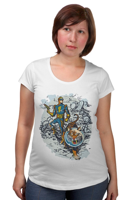 Футболка для беременных Printio Calvin, the spiffy spaceman футболка для беременных printio bring me the horizon