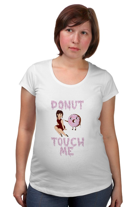 Футболка для беременных Printio Donut touch me футболка для беременных printio bring me the horizon