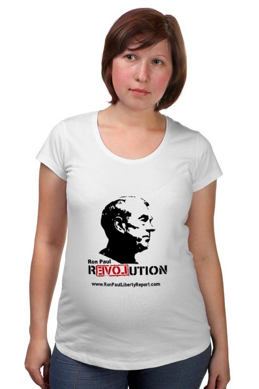 Футболка для беременных Printio Ron paul revolution paul lanjalley paul corriez histoire de la revolution du 18 mars