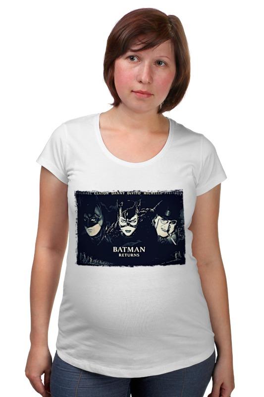Футболка для беременных Printio Бэтмен возвращается футболка для беременных printio жарю лучше всех