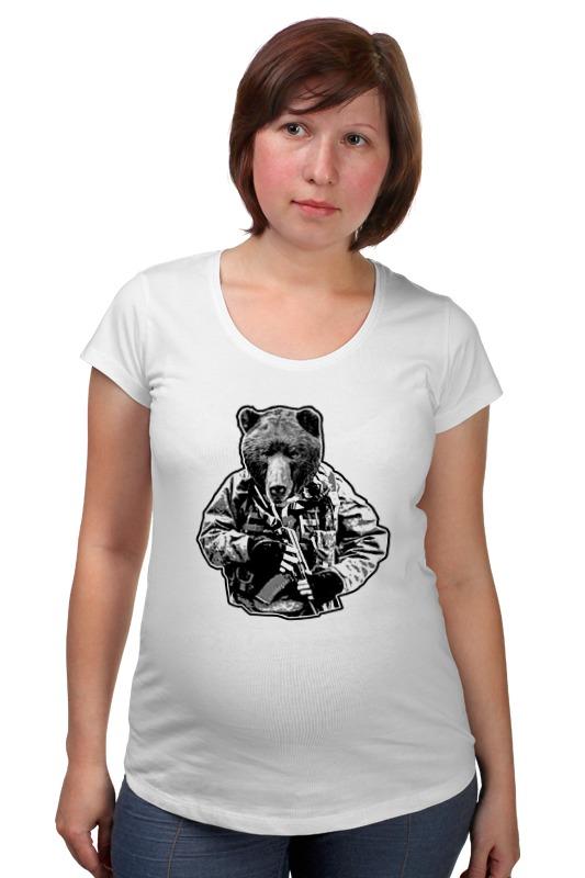 Футболка для беременных Printio Медведь солдат футболка для беременных printio неизвестный солдат