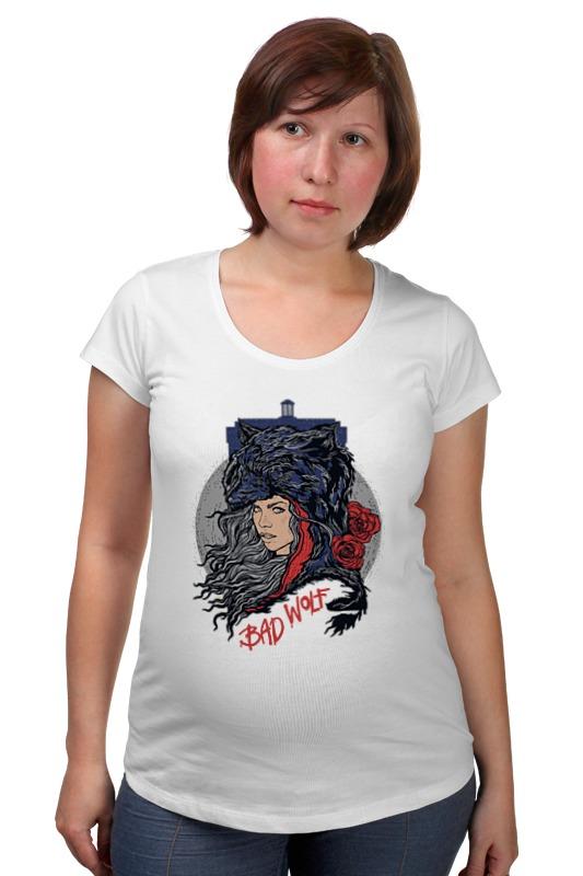 Футболка для беременных Printio Bad wolf (doctor who) футболка рингер printio доктор кто doctor who