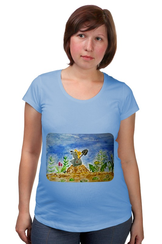Футболка для беременных Printio Крошка крот футболка классическая printio радостный крот
